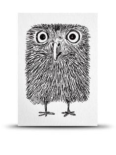 Studio Arhoj Baby Owl Print A5