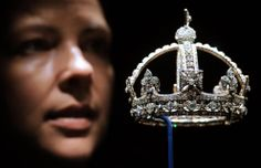 Caroline de Guitaut, curator of a new exhibition at Buckingham Palace, in which jewels collected by six monarchs over three centuries will go on display to mark the Queen's Diamond jubilee this summer.     They include Queen Victoria's Small Diamond Crown which was the most recognisable jewel of Queen Victoria's old age.