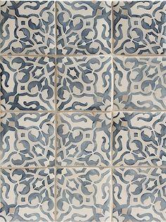 Walker Zanger DUQUESA - Mezzanotte Ceramic Fatima Decorative Field : 4 5/8'' x 4 5/8'' Finish: Handpainted
