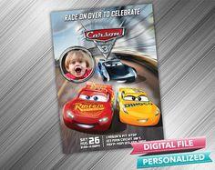 Cars 3 Birthday Invitation Cars Invitations Cars Invite Cars Birthday Invitation