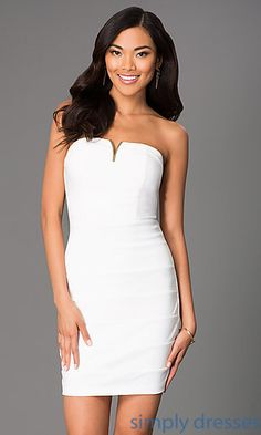 Short Strapless Homecoming Dress 1027 by Emerald Sundae at SimplyDresses.com