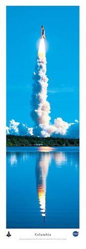 Columbia Space Shuttle Christopher Gjevre Fine Art Print Poster