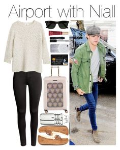 """Airport with Niall"" by justgirlydirectioners ❤ liked on Polyvore featuring moda, Payne, H&M, MANGO, UGG Australia, Ted Baker, Dot & Bo, Smashbox, Too Faced Cosmetics y Ray-Ban"