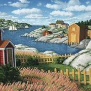 Eastern on x 40 inches Acrylic Artwork, Canadian Art, Newfoundland, East Coast, Wonders Of The World, Home Art, Landscape Paintings, Oil On Canvas, Coastal