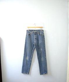 Vintage 80's Levi's 506 blue jeans denim jeans by manorborn