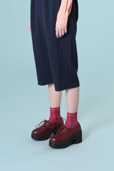 Leather Chunky Heel Brogue Burgundy - http://www.thewhitepepper.com/collections/shoes/products/leather-chunky-heel-brogue-burgundy