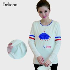 2 Color Long Sleeve Umbrella Embroidery Breastfeeding Clothes for Pregnant Women Autumn Spring Nursing Tops Pregnancy Clothing $29.50 => Save up to 60% and Free Shipping => Order Now! #fashion #woman #shop #diy www.mybreastfeedi...