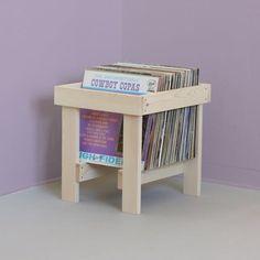 porta lp suporte apoio organizador disco vinil em madeira