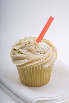 Root beer cupcake filled with cream, topped with a swirl of root beer buttercream. @Anna Gunn!