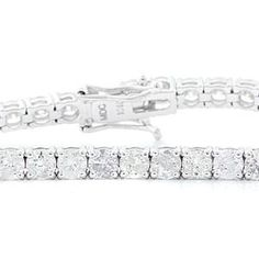 #Malakan #Jewelry - White Gold Diamond Tennis Bracelet  BL6796 #Bracelet #Fashion #TennisBracelet