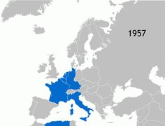 La extensión de la UE desde su creación en 1957 hasta la última incorporación en el año 2013.