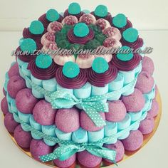 Torta Rebecca Frozen Birthday Party, Birthday Cake, Tiffany Party, Candy Cakes, Candy Bouquet, Ideas Para Fiestas, Candy Party, Cake Shop, Candyland