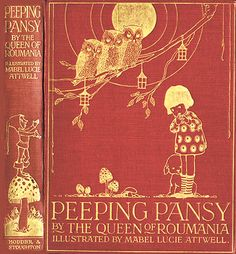 Peeping Pansy.....Illustrated by Mabel Lucie Attwell