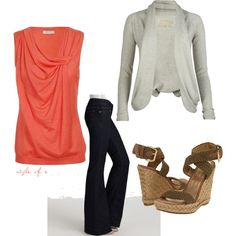 """Coral"" by styleofe on Polyvore"