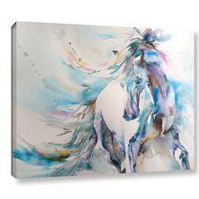 'Horse 9' Painting Print on Wrapped Canvas