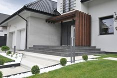 Terrace Design, Facade Design, Exterior Design, Architecture Design, House Design, Exterior Wall Materials, Exterior House Colors, Modern Entrance Door, House Entrance