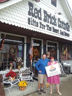 We are proud to be our town's storefront of the month! Best part of it is these beautiful faux mums we sell... they look so real ! 270-351-1224. #theredbrickcottage