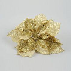 Poinsettia de Noël en soie OR sur Izaneo