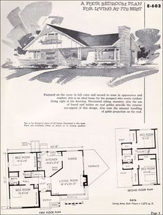 find this pin and more on vintage house plans1950s - Vintage Storybook House Plans