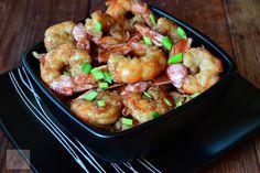 Creveti in crusta de aluat - CAIETUL CU RETETE Paella, Shrimp, Meat, Food, Kitchens, Essen, Meals, Yemek, Eten