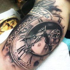 Tattoo Artist - Johnny Smith - time tattoo - www.worldtattoogallery.com