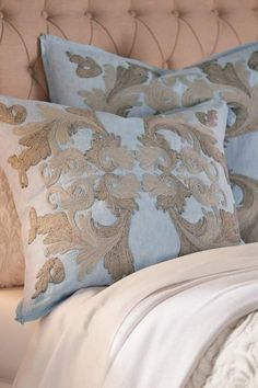 Are you looking for master bedroom suite ideas or master bedding? I just LOVE white and blue bedroom decor. Here are a few master bedroom makeovers for when you are ready to remodel master bedroom. Euro Pillow Shams, Bed Pillows, Master Suite Bedroom, Blue Bedroom Decor, Luxury Bedding Sets, Modern Bedding, Soft Surroundings, Quilt Bedding, Bedding Collections