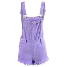 LADIES PASTEL COLOUR WASH DENIM SHORT/CROP BIB DUNGAREES/PLAYSUITS/ALL... ($17) ❤ liked on Polyvore featuring shorts, dresses, overalls and shirts