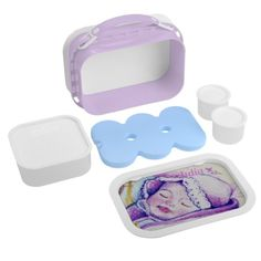Sweet Dreams Baby Yubo Lunch Box by MoonDreams Music #customizable #yubo #lunchbox #baby #moondreamsmusic #purple #luch
