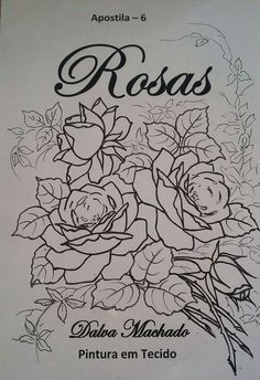 Rose Patterns, Leaf Patterns, One Stroke Painting, Arte Popular, Art Sketches, Still Life, Crochet Projects, Embroidery Designs, Rose Drawings
