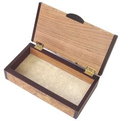 Small wood box - Handmade small keepsake box - open view