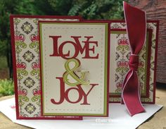Claire Broadwater: Claire Creates Cards – LOVE & JOY--Merry Monday #126 - 9/15/14