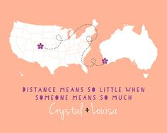 Custom Best Friend Gift, Long Distance Friends Map -  Personalized Art Print, Best Friends Forever, BFF, Foreign Exchange Student