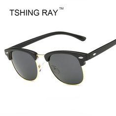 9cdf2e2975 TSHING RAY Classic Half Frame Polarized Sunglasses Men Women Brand Designer  G15 Coating Mirror Sun Glasses For Female-in Sunglasses from Women s  Clothing ...