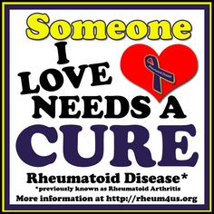 Like & Pin if you have or love someone with Rheumatoid Disease previously known as Rheumatoid Arthritis. More information at http://rheum4us.org/