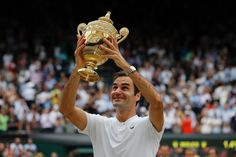 Age is just a number for Roger Federer. After winning the elusive Major in January, there seems to be no stopping the Federer lifted his eighth Wimbledon title and the Grand Slam of his career on Sunday at Wimbledon. Roger Federer, Federer Wimbledon, Wimbledon 2017, Tennis World, Indian Hairstyles, Tumblr Girls, Sports News, Champion, Like4like