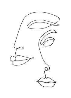 30 Minimalist Tattoo Designs This minimalist style designs . - 30 Minimalist Tattoo Designs This minimalist style designs - Face Outline, Outline Art, Tattoo Outline, Grey Tattoo, Face Line Drawing, Single Line Drawing, Continuous Line Drawing, Line Art Design, Art Abstrait Ligne