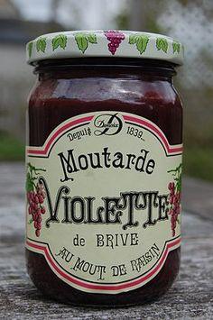 Brive la Gaillarde (Corrèze) - la moutarde violette de Brive