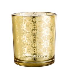 Check this out! Tea light holder in glass with a printed pattern. Diameter 2 3/4 in., height 3 1/4 in. - Visit hm.com to see more.