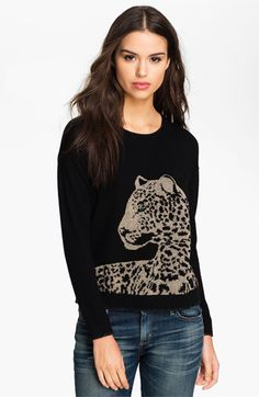 Juicy Couture Leopard Graphic Sweater - if only it didn't cost $113.76!