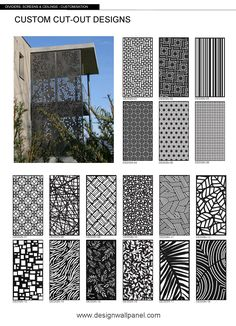 Outdoor Screen Panels, Outdoor Privacy, Outdoor Walls, Backyard Privacy Screen, Privacy Walls, Privacy Screens, Wall Partition Design, Wall Design, Fence Design