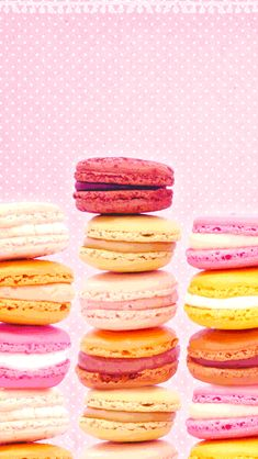 Macaroons wallpaper Pink, red, yellow, orange, white, and cute