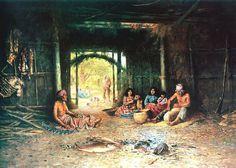 Henry Raschen: Interior de un Pomo morada.