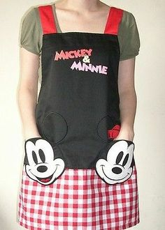love kitchen Lovely Disney Mickey Adult Kitchen Apron Cooking CUTE GIFT