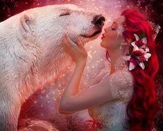 Mermaid Dreams by EstherPuche-Art on DeviantArt Fantasy Women, Fantasy Art, Fantasy Images, Dark Fantasy, Mystery, Mythological Creatures, Animation, Animals Images, Wolf Images