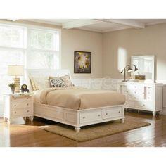 Sandy Beach Storage Bedroom Set (White)