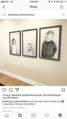 Fürs Kinderzimmer Foto von Lilli - Wandgestaltung ideen For the nursery photo of Lilli For the nurse Photo Deco, Farmhouse Wall Decor, Farmhouse Style, Home And Deco, My Dream Home, Home And Living, Home Projects, Living Room Decor, Art For Living Room