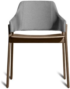 Clutch Dining Chair by Blu Dot | Sturdy yet elegant and comfortable without being overly plush, Clutch's rounded edges and curved back wrap around to provide the perfect resting spot for arms. | 2Modern Furniture & Lighting