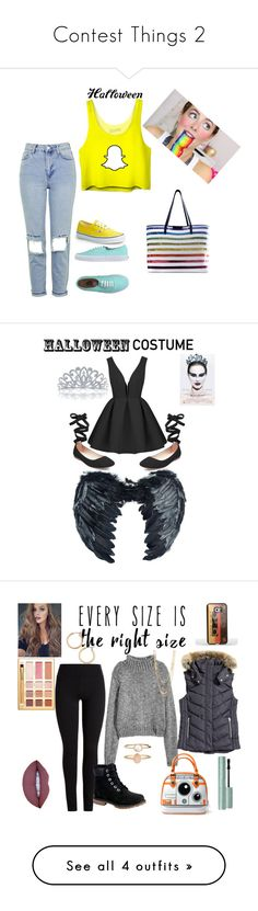 """""""Contest Things 2"""" by babe-b8 ❤ liked on Polyvore featuring Topshop, Vans, Mary Katrantzou, halloweencostume, DIYHalloween, Steve Madden, Bling Jewelry, Black Swan, Timberland and Samsung"""