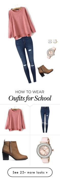 """school outfit"" by irelynnedl on Polyvore featuring Miss Selfridge, H&M and…"