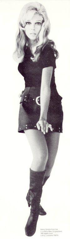 Nancy Sinatra (born June 8, 1940 - ) cover photo of her greatest hits album…